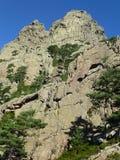 Die Berge Aiguilles de Bavella lizenzfreies stockbild