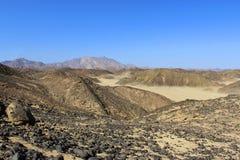 Die Berge in der Wüste lizenzfreies stockbild