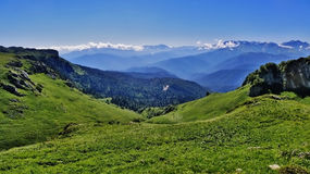 Die Berge des Kaukasus Stockfotografie