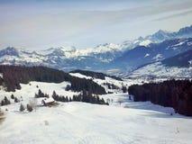 Die Berge Megeve, Frankreich Stockfoto