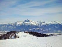 Die Berge Megeve, Frankreich lizenzfreies stockfoto