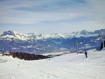 Die Berge Megeve, Frankreich lizenzfreie stockfotografie