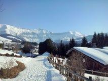 Die Berge Megeve, Frankreich stockfotos
