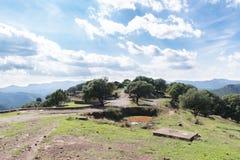 Die Berge in Montseny lizenzfreies stockfoto