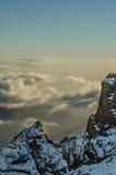 Die Berge Roque de Los Muchachos Stockfoto