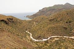 Die Berge u. die Küstenlinie von Murcia, Spanien Stockfotos