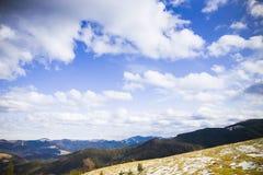 Die Berge und der Wald Lizenzfreie Stockfotos