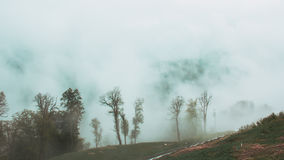 Die Berge von Sochi im wolkigen Wetter Lizenzfreie Stockbilder