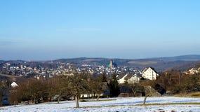 Die Bergstadt Schneeberg in Deutschland Lizenzfreies Stockfoto