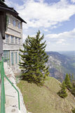 Die Bergstation der Rax-Drahtseilbahn, Alpe Lizenzfreie Stockbilder