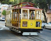 Die berühmte Drahtseilbahn in San Francisco Stockbild