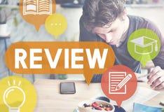 Die Bericht-Einschätzungs-Revidierung werten Konzept aus Lizenzfreie Stockbilder