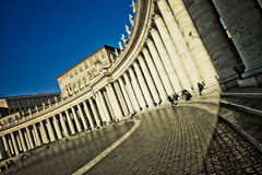 Die Bernini Kolonnade Stockfotografie