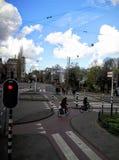 Die beschäftigte Kreuzung in den Niederlanden Stockfotos