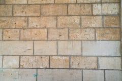 Die Beschaffenheit der Blockwand des Mamluks-Zeitraums auf dem Tempelberg in Jerusalem Lizenzfreies Stockbild