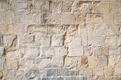 Die Beschaffenheit der Blockwand des Mamluks-Zeitraums auf dem Tempelberg in Jerusalem Stockfotografie