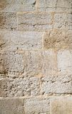 Die Beschaffenheit der Blockwand des Mamluks-Zeitraums auf dem Tempelberg in Jerusalem Stockbild