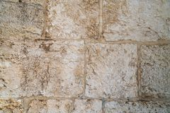 Die Beschaffenheit der Blockwand des Mamluks-Zeitraums auf dem Tempelberg in Jerusalem Stockbilder