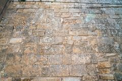 Die Beschaffenheit der Blockwand des Mamluks-Zeitraums auf dem Tempelberg in Jerusalem Lizenzfreies Stockfoto