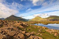 Die Beschaffenheit der Färöer Lizenzfreie Stockfotos