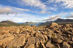 Die Beschaffenheit der Färöer Stockfotografie