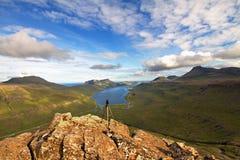 Die Beschaffenheit der Färöer Stockfotos