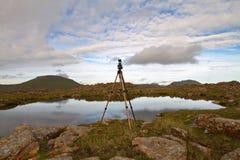 Die Beschaffenheit der Färöer Stockfoto
