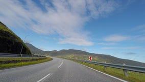Die Beschaffenheit der Färöer stock video footage