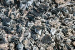 Die Beschaffenheit der heißen Asche, grau, auf, Grill lizenzfreies stockbild