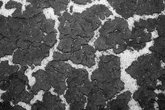 Die Beschaffenheit der Unterseite des Reservoirsandes und der Ansammlung der Feinkohle auf die Oberseite Hintergrund Fase gezeich Stockfotografie