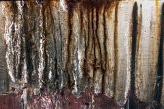 Die Beschaffenheit des rostigen Metalls Stockfotos