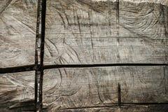 Die Beschaffenheit des Schnittes eines alten Baumstammes Lizenzfreies Stockfoto