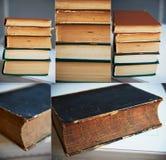 Die Beschaffenheit ist ein Stapel alte Bücher, Collage Lizenzfreies Stockfoto