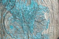 Die Beschaffenheit ist eine alte blaue Farbe auf dem Holz Stockfotos