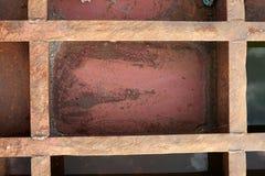 Die Beschaffenheit ist metallisch Industrieller Hintergrund von einem alten rostigen stockfotografie