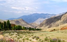 Die Beschaffenheit von Kirgisistan Lizenzfreies Stockfoto
