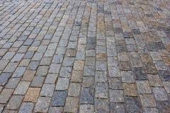 Die Beschaffenheit von Pflastersteinen stockbilder
