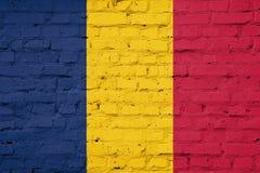 Die Beschaffenheit von Tschad-Flagge stockfotos