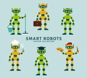 Die Besetzungen des Roboters Nahtloser Blumenhintergrund Stockbild