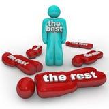 Die Best-Gewinne gegen den Sieger des Rest-einer steht alleine lizenzfreie abbildung