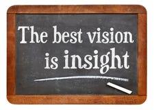 Die beste Vision ist Einblick lizenzfreie stockbilder