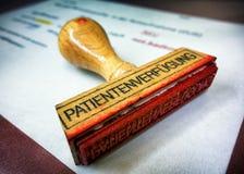 Die Bestimmung des Patienten Stockbild