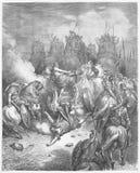 Die Bestrafung von Antiochus lizenzfreies stockbild