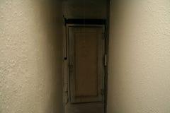 Die beunruhigende Tür Lizenzfreies Stockfoto