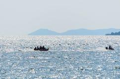 Geschwindigkeit eines Bananenbootes Lizenzfreies Stockbild