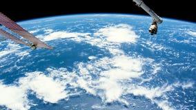 Die Bewegung der Erde-` s Oberfläche, genommen von der Raumstation lizenzfreie abbildung