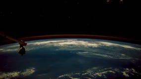 Die Bewegung der Erde-` s Oberfläche, genommen von der Raumstation vektor abbildung