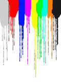 Die Bewegung des Pigments Stockfotografie