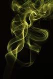 Die Bewegung des Rauches gefärbt ist Unschärfe und Geräusche Stockfotografie