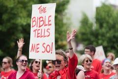 Die Bibel sagt mir so Stockfotos